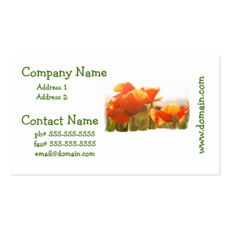 Poppies Business Cards