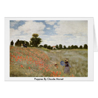 Poppies By Claude Monet Card
