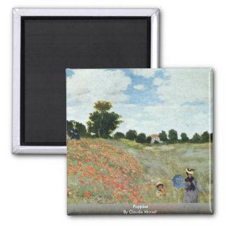 Poppies By Claude Monet Fridge Magnet
