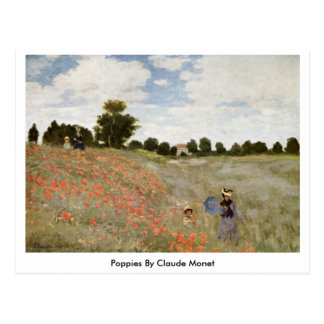 Poppies By Claude Monet Postcard
