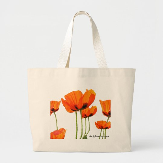Poppies! by Linda Lou - Mother's Day Gift Package Large Tote Bag