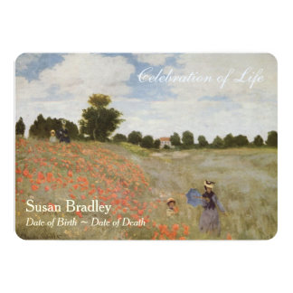 Poppies by Monet Celebration of Life Invitation