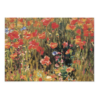 Poppies by Robert Vonnoh, Bridal Shower Party Card