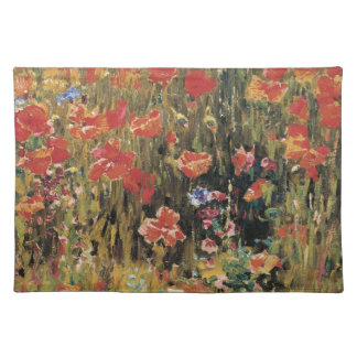 Poppies by Robert Vonnoh, Vintage Flowers Floral Place Mat
