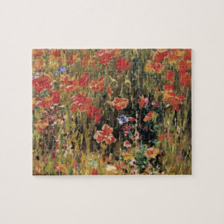 Poppies by Robert Vonnoh, Vintage Flowers Floral Puzzles