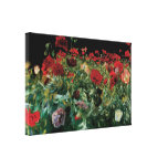 Poppies by Sargent, Vintage Flowers Floral Art Stretched Canvas Prints