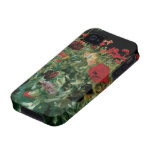 Poppies by Sargent, Vintage Flowers Floral Art Case-Mate iPhone 4 Case