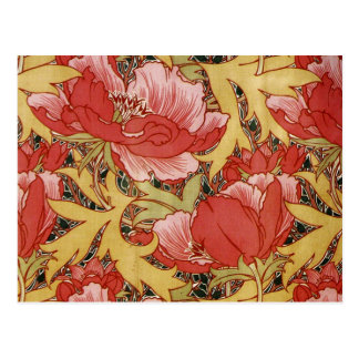 Poppies by William Morris Postcard