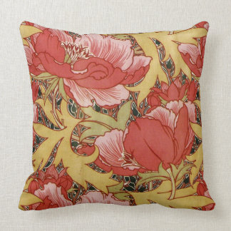 Poppies by William Morris Throw Pillow