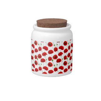 Poppies Candy Jar