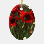 Poppies Christmas Tree Ornament