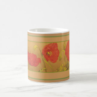 Poppies Classic White Coffee Mug