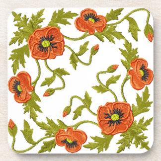 Poppies Coaster - set of 6