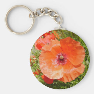 Poppies - Coquelicots Keychain