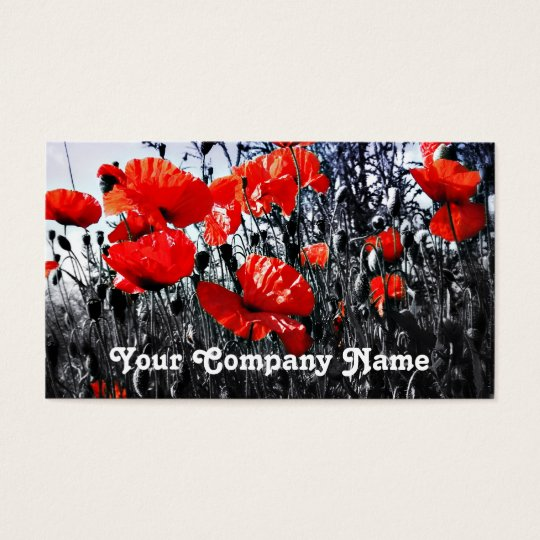 Poppies Custom Business Cards