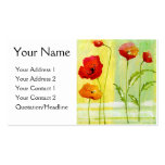 Poppies - Customized Business Card