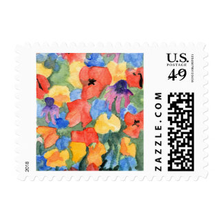 Poppies, Cyclamen and Echinacea US Postage Stamps