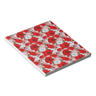 Poppies Daisies and Ladybirds Memo Pads
