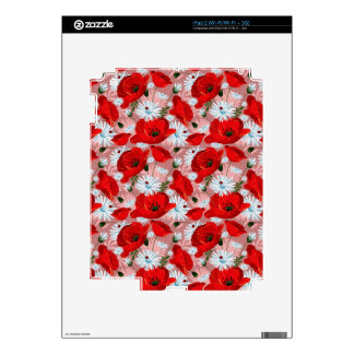 Poppies Daisies and Ladybirds Skin For iPad 2