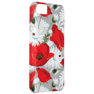 poppies daisies ladybugs vintage iphone 5 case