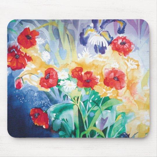 Poppies & Daisies mousepad