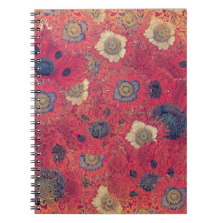 Poppies Deluxe: Hot red and pink poppy fill with b Notebook