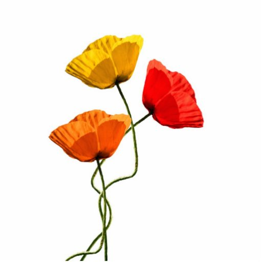 Poppies design acrylic cut out