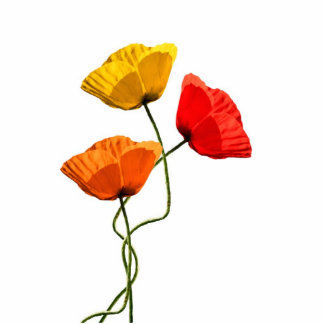 Poppies design cutout