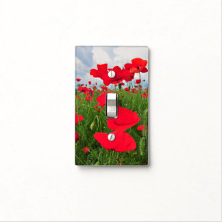 Poppies field switch plate covers