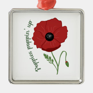 Poppies Flower Ornaments