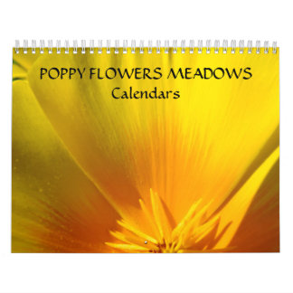 Poppies FLOWERS MEADOWS Calendar Gifts Holidays