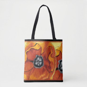 Beach Themed Poppies Galore Tote Bag