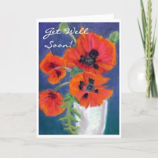 'Poppies' Get Well Card card