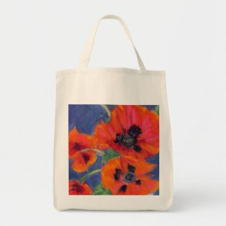 Poppies Grocery Tote Bag bag