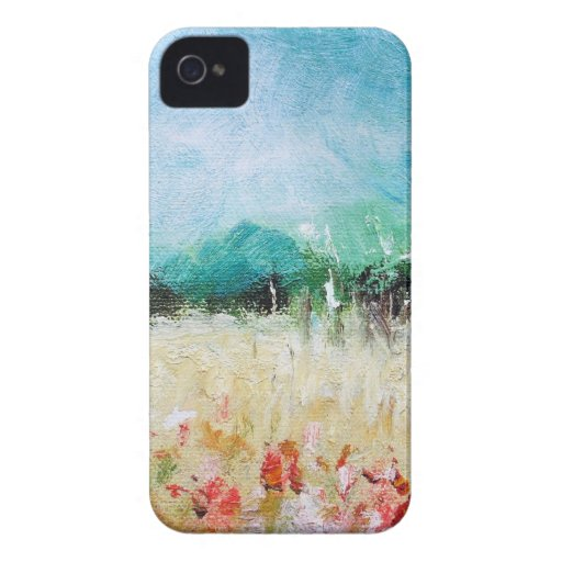 Poppies in a Cornfield iPhone 4/4S Barely There iPhone 4 Cases