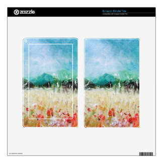 Poppies in a Cornfield Kindle Fire Skin