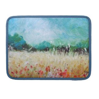 Poppies in a Cornfield Macbook  Sleeve MacBook Pro Sleeves