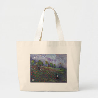 POPPIES IN A FIELD LARGE TOTE BAG
