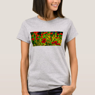 Poppies in a field T shirt