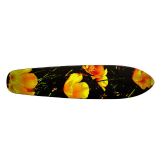 Poppies in a Row Skateboards