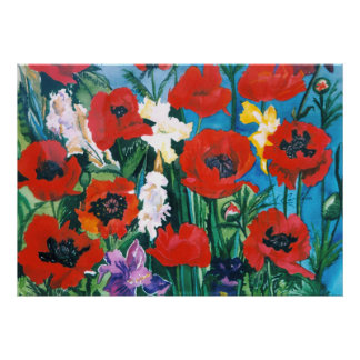 Poppies in Bloom Posters