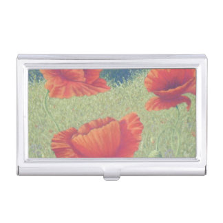 Poppies in Flanders Fields Business Card Holder