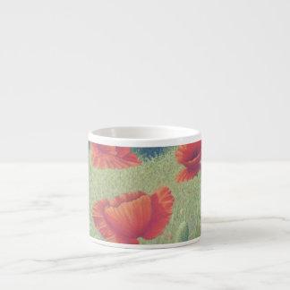 Poppies in Flanders Fields in Pastel Espresso Mug 6 Oz Ceramic Espresso Cup