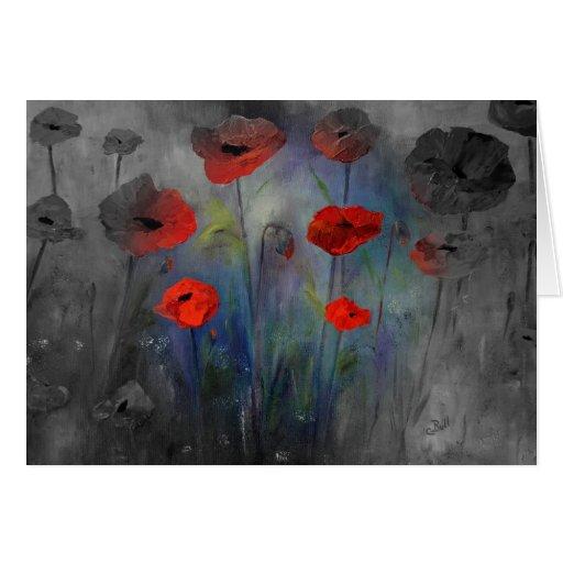 Poppies in Fog Card