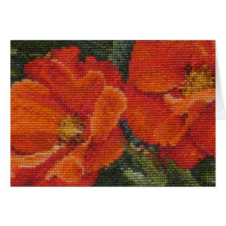 Poppies in Needlework Card