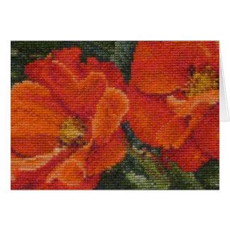 Poppies in Needlework Card