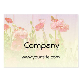 Poppies in Pink and Red Business Cards