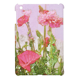 Poppies in Pink and Red iPad Mini Case