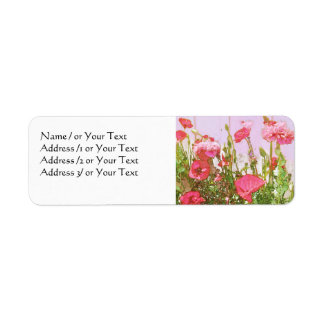 Poppies in Pink and Red Label