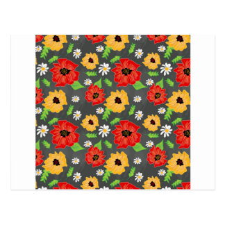 Poppies in red & yellow postcard